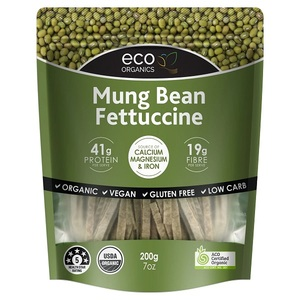 Eco Organics Mung Bean Fettucine Vegan Pasta 200g