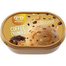 Selecta Coffee Crumble Ice Cream 750ml