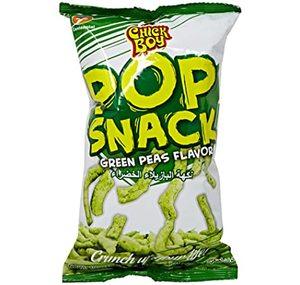 Chick Boy Snack Pop Crunch Green Peas Flavor 100g