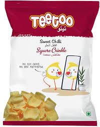 Teetoo Sweet Chilli Square Crinkle 23g