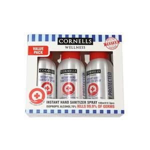 Cornells Handwash + Sanitizer Spray + Face Mask Set 1set