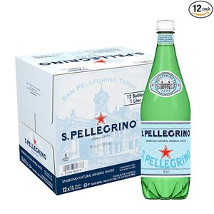 San Pellegrino Sparkling Natural Mineral Water Glass 12x1l