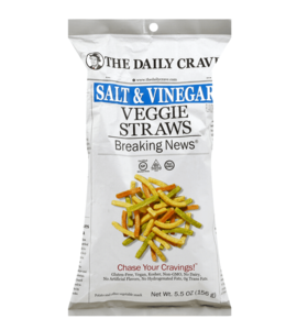 The Daily Crave Veggie Straws Salt And Vinegar 156g