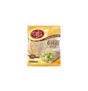 Deli Sun Whole Wheat Wrap Tortilla 360g