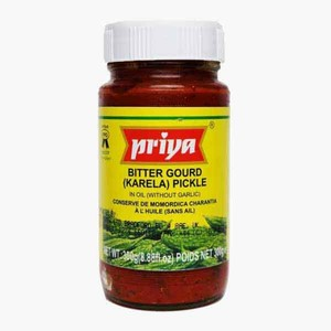 Priya Bittergourd Pickle In Oil 300g