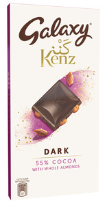 Galaxy Kenz ​Dark Chocolate 55% With Whole Almond Tablet 90g
