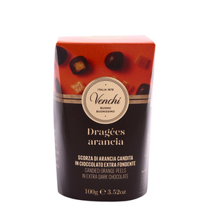 Candied Orange Peel In Extra Dark Chocolate 100g