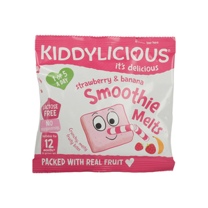 Kiddylicious Strawberry & Banana Smoothie 6g