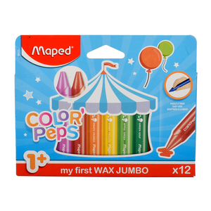 Maped Color Peps Wax Crayons Maxi MD861311 12colors