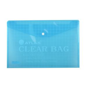 Atlas Document Bag Foolscap Blue AS-F10001 1pc