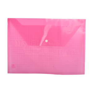 PSI My Clear Bag Foolscap Red 1pc
