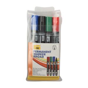 PSI Permanent Marker Broad MRPB/4 4colors