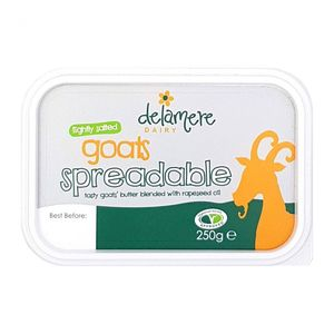 Delamere Lightly Salted Goat Butter Spreadable Blended With Rapeseed Oil Vegetarian 250g