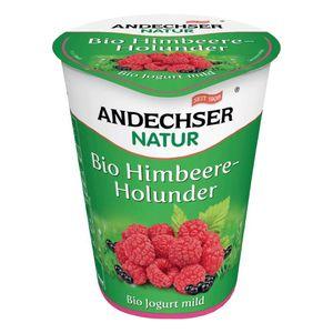 Andechser Natur Organic Mild Raspberry & Elderberry Yogurt 400g