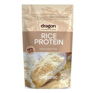 Dragon Superfoods Organic Rice Protein  83% Protein Content Vegan Raw 200g