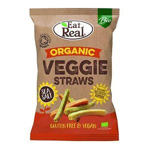 Eat Real Organic Veggie Straws Sea Salt Vegan Gluten Free 100g