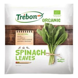 Trebon Frozen Organic Spinach Leaves Additives Free Artificial Pesticides Free Artificial Fertilizers Free 400g