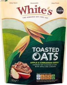 Whites Toasted Oats Apple & Cinnamon Crunch 150g