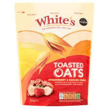 Whites Toasted Oats Strawberry & Banana Crunch 500g