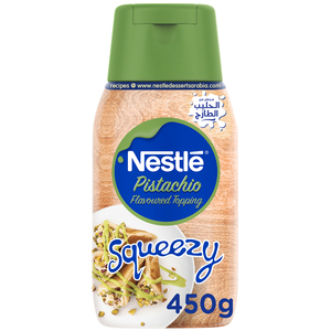 Nestle Pistachio Flavored Topping Squeezy 450g