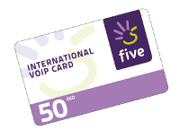 Five International VOIP Card (AED 50) 1pc