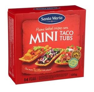 Santa Maria Mini Taco Tubs 120g
