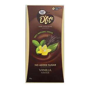 D'Lite Sugr Free Dark Chocolate Vanilla 80g