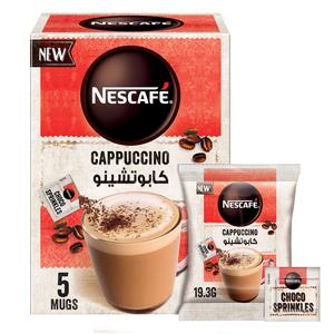Nescafe Cappuccino Foamy Coffee Mix with Chocolate Sprinkles 5x19.3g