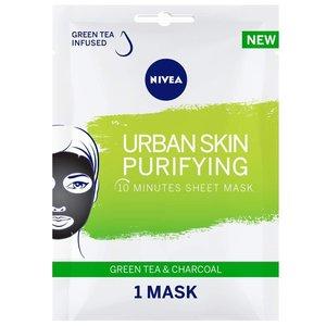 Nivea Urban Skin Purifying Face Sheet Mask Green Tea & Charcoal 1mask
