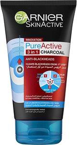 Garnier Active Charcoal Facewash 3In1 150g