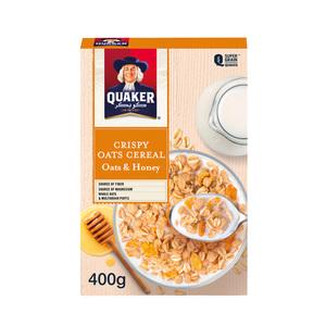 Quaker Crispy Cereal Oats & Honey 400g