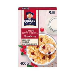 Quaker Crispy Oats Cereal Cranburry 400g