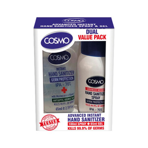 Cosmo Advanced Instant Hand Sanitizer Spray With Gel 100ml+65ml