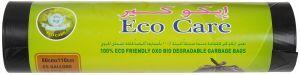 Eco Care Black Garbage Bag Roll 15pcs