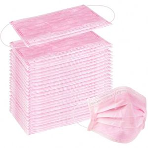 Disposable Face Mask Pink 50s