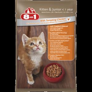 8In1 Kitten & Junior With Tempting Chicken 24x100g