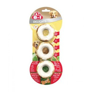8In1 Delights Meaty Chewy Rings 60g