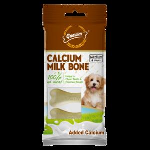 """Gnawlers 3"""" Calcium Milk Bone 90g"""