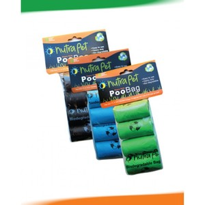Nutra Pet  Green Poo Bags With Header Card 8rolls