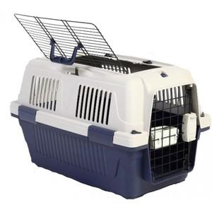Nutra Pet Dog & Cat Carrier Open Grill Top Dark Blue Box 2.5kg