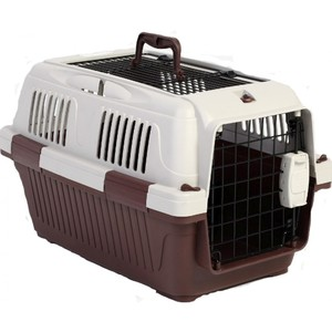 Nutra Pet Dog & Cat Carrier Open Grill Top Dark Red Box 2.5kg