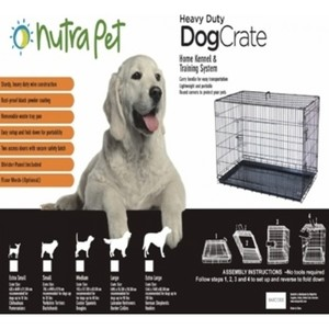 Nutrapet Double Door With Divider Large 109x70.5x78.5cms