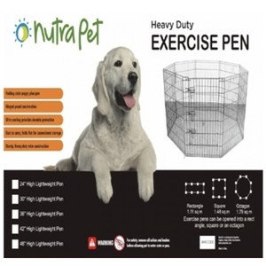 "Nutrapet High Lightweight Exercise Pen Black Powder Coated 36"""