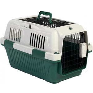 Nutra Pet Dog & Cat Carrier Open Grill Top Dark Green Box L50cmsxW33cmsxH29cms