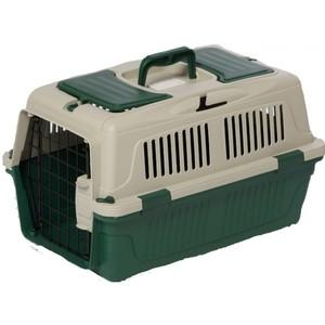 Nutra Pet Dog & Cat Carrier Box Closed Top Dark Green L57cmsxW37cmsxH35cms