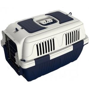 Nutra Pet Dog & Cat Carrier Box Closed Top Dark Blue L63cmsxW41cmsxH40cms