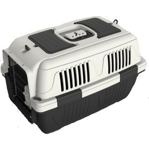 Nutra Pet Dog & Cat Carrier Box Closed Top Dark Grey L63cmsxW41cmsxH40cms