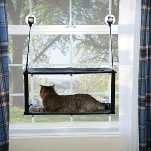 K&H  Ez Mount Window Double Stack Kitty Sill Gray 300g
