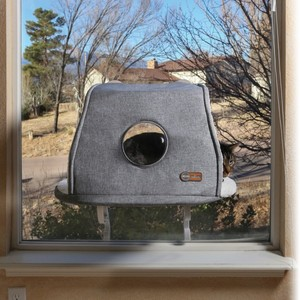 K&H Universal Mount Kitty Sill With Hood Gray 300g