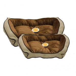 K&H Bolster Couch Small Mocha/Tan 300g